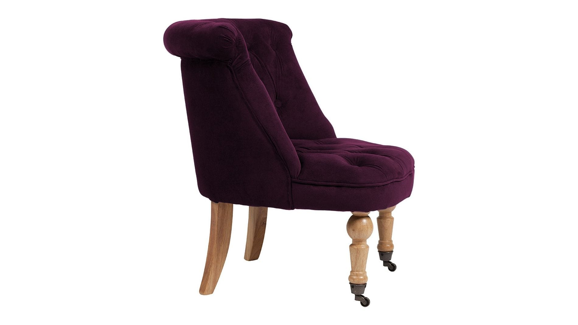 Кресло Amelie French Country Chair Лиловый Велюр М