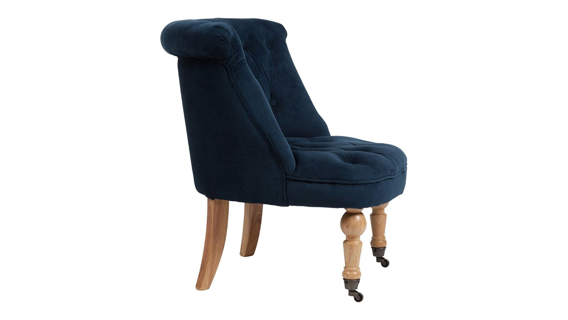 Кресло Amelie French Country Chair Синий Велюр М