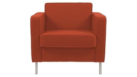 Кресло George Оранжевая Шерсть Р
