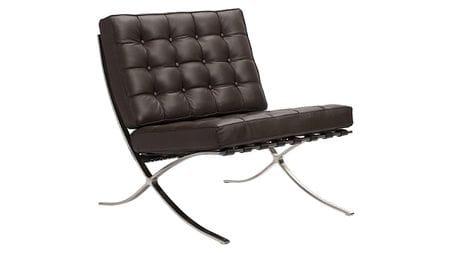 Кресло Barcelona Chair Коричневая Кожа Класса Премиум Р