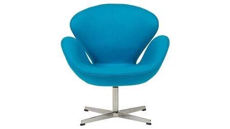 Кресло Swan Chair Голубой Кашемир М