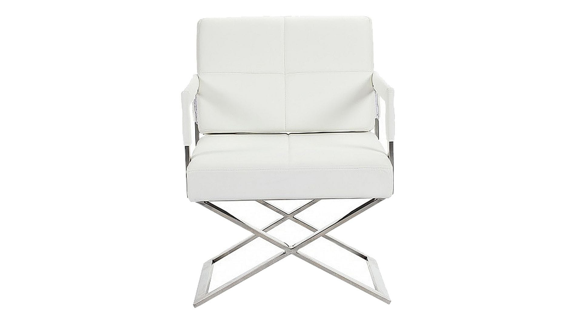 Кресло Aster X Chair White Premium Leather