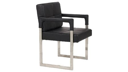 Кресло Aster Chair Black Premium Leather