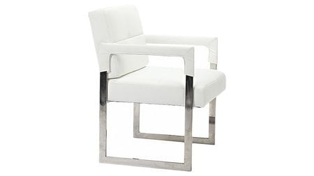 Кресло Aster Chair White Premium Leather