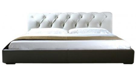 Кровать Adelle 180х200 Белая Экокожа Большая Р