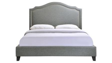 Кровать Cassis Upholstered серая 160х200 Р