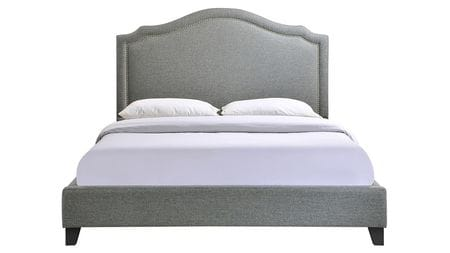 Кровать Cassis Upholstered серая 180х200 Р