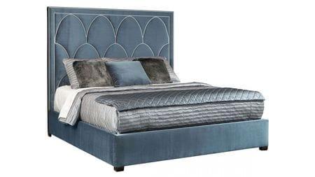 Кровать Petals Queen Голубой велюр 160х200 Р