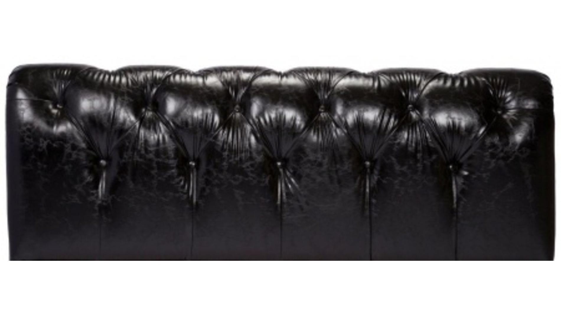 Кровать Adelle 160х200 Черная Экокожа Р