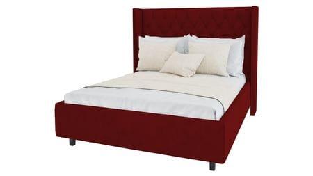 Кровать Wing-2 140х200 Велюр Красный Р