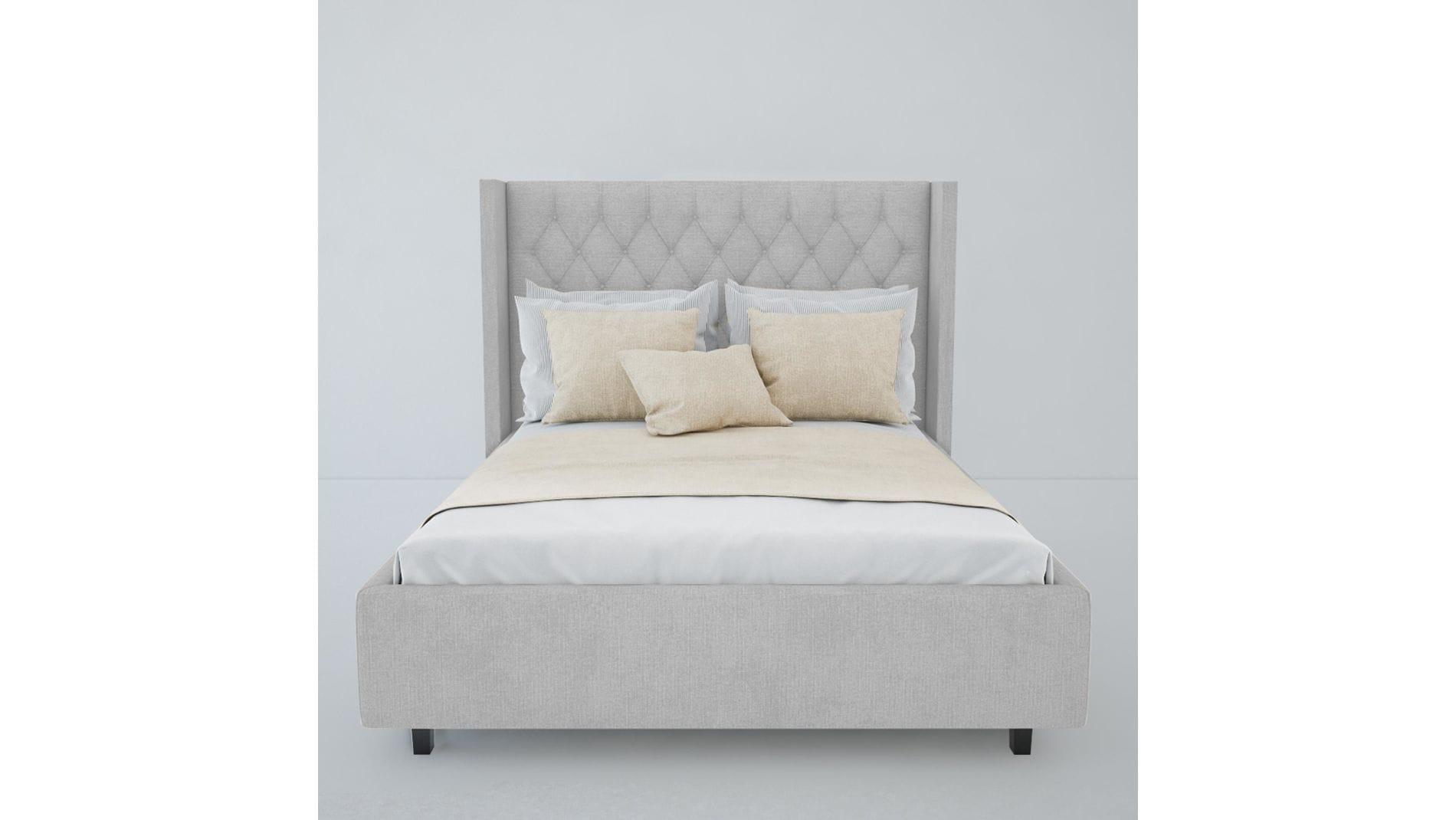 Кровать Wing-2 160х200 Велюр Молочный Р