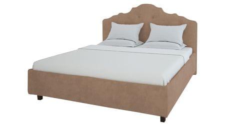 Кровать Palace 160х200 Велюр Светло-коричневый Р