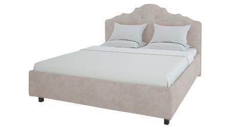 Кровать Palace 200х200 Велюр Серый Р