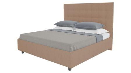 Кровать Royal Black 160х200 Велюр Серо-коричневый Р