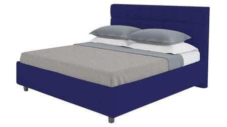 Кровать Wales 160х200 Велюр Синий Р