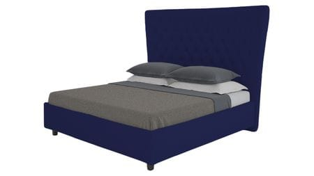 Кровать QuickSand 160х200 Велюр Синий Р