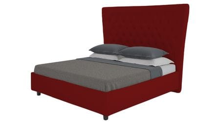 Кровать QuickSand 140х200 Велюр Красный Р