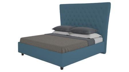 Кровать QuickSand 140х200 Велюр Морская волна Р