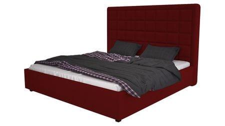 Кровать Elizabeth 140х200 Велюр Красный Р