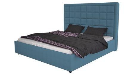 Кровать Elizabeth 140х200 Велюр Морская волна Р