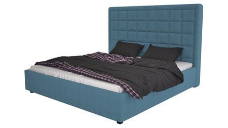 Кровать Elizabeth 160х200 Велюр Морская волна Р