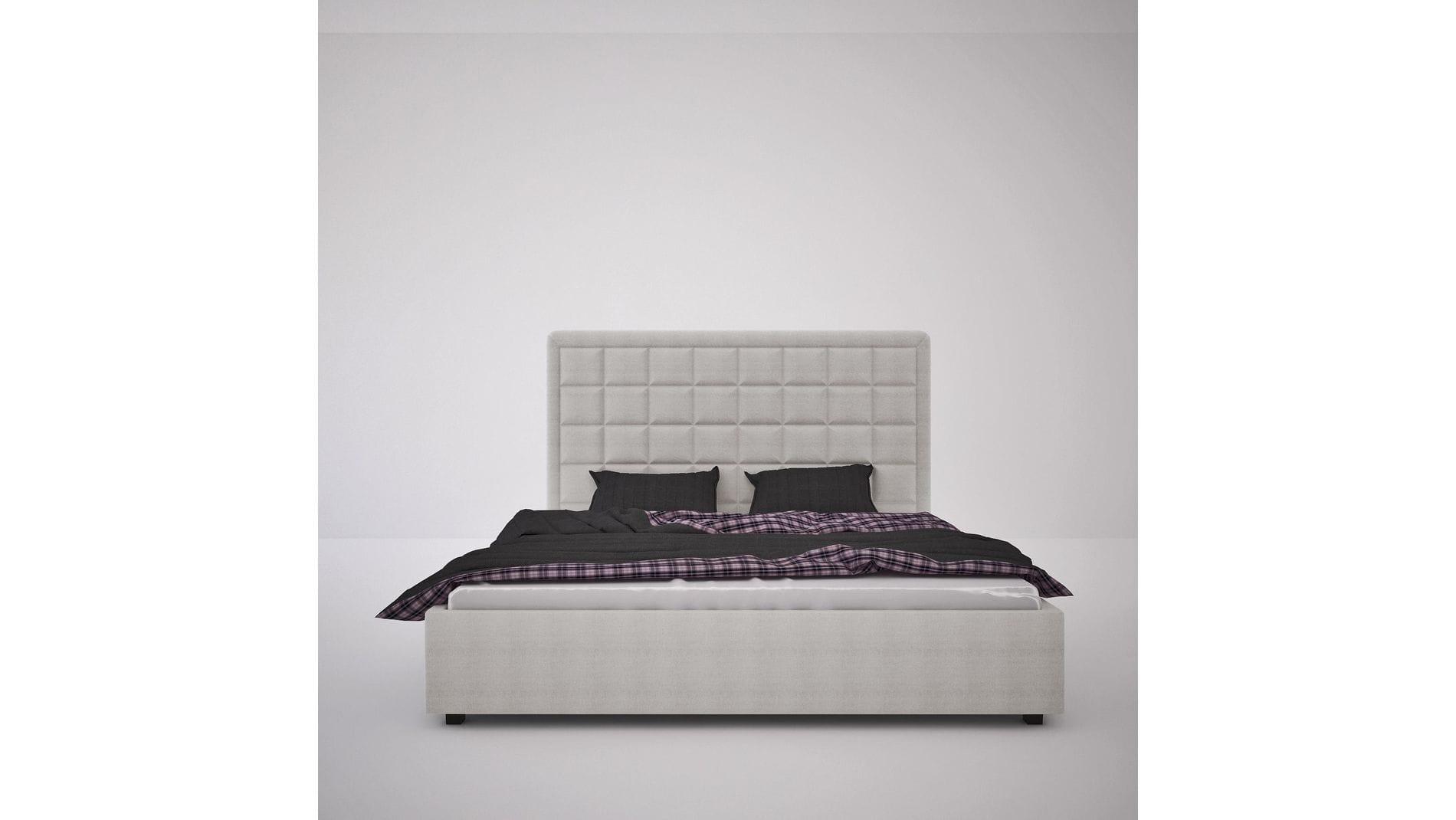 Кровать Elizabeth 200х200 Велюр Бежевый Р