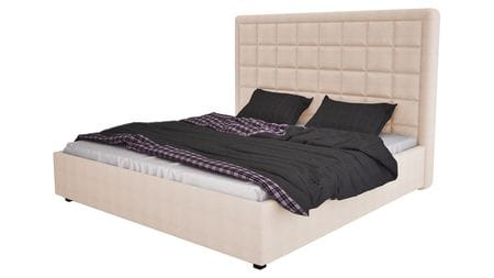 Кровать Elizabeth 140х200 Велюр Светло-бежевый Р