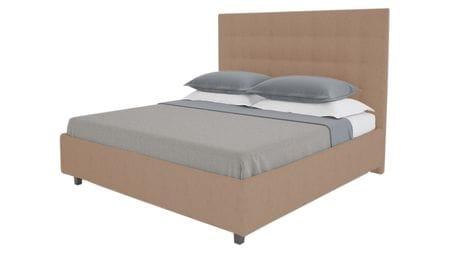 Кровать Royal Black 140х200 Велюр Серо-коричневый
