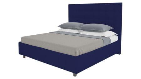 Кровать Royal Black 140х200 Велюр Синий Р