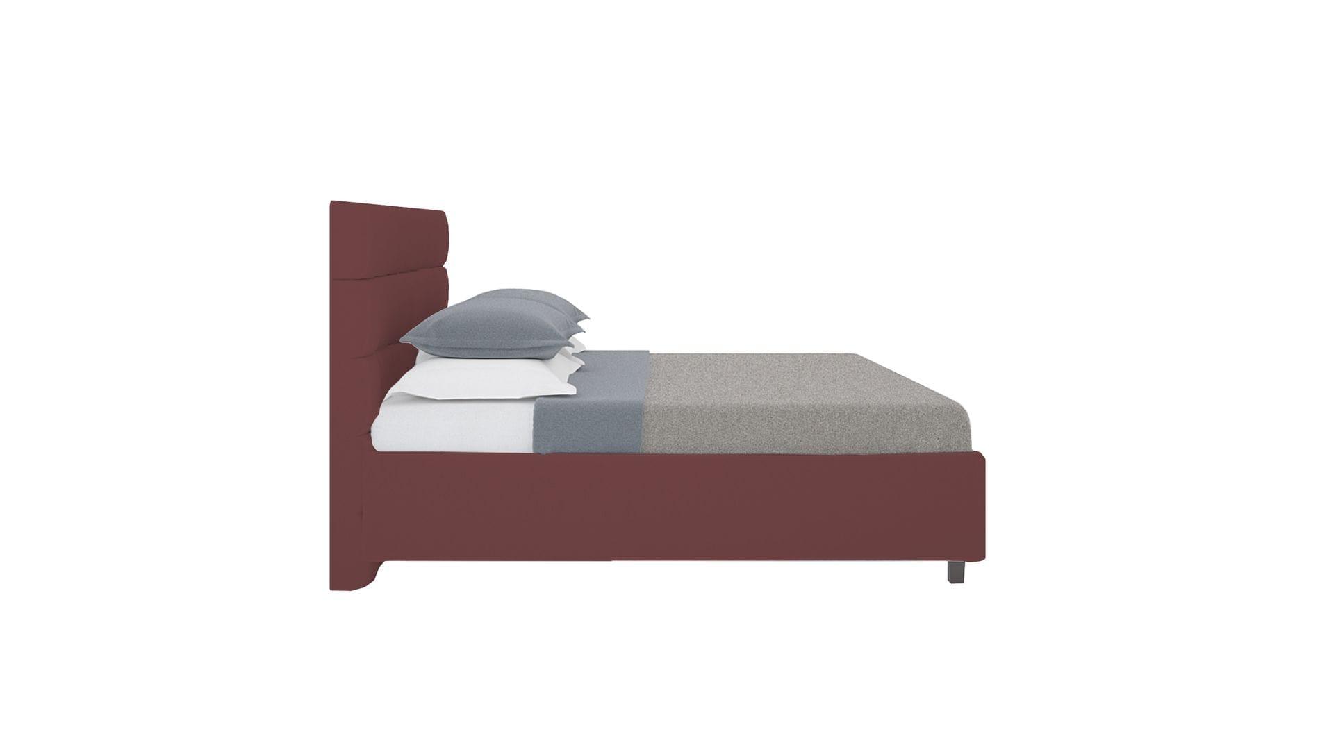 Кровать Wales 160х200 Велюр Коричневый Р