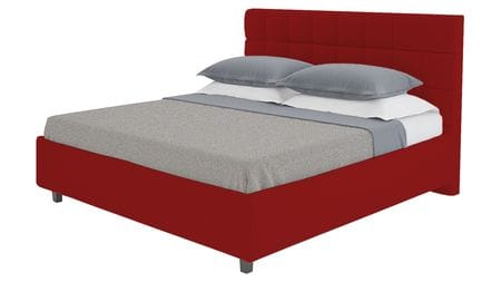 Кровать Wales 160х200 Велюр Красный Р