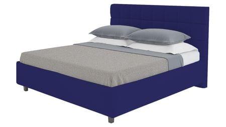 Кровать Wales 200х200 Велюр Синий Р