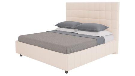 Кровать Shining Modern 140х200 Велюр Светло-бежевый Р