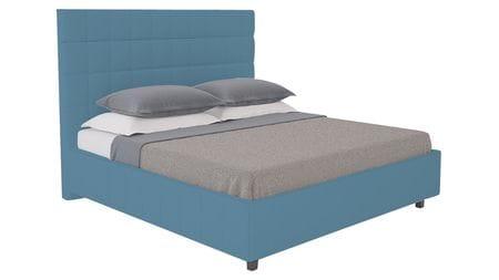 Кровать Shining Modern 140х200 Велюр Морская волна Р