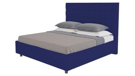 Кровать Shining Modern 140х200 Велюр Синий Р