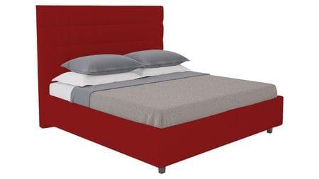 Кровать Shining Modern 160х200 Велюр Красный Р
