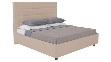 Кровать Shining Modern 180х200 Велюр Серо-коричневый Р