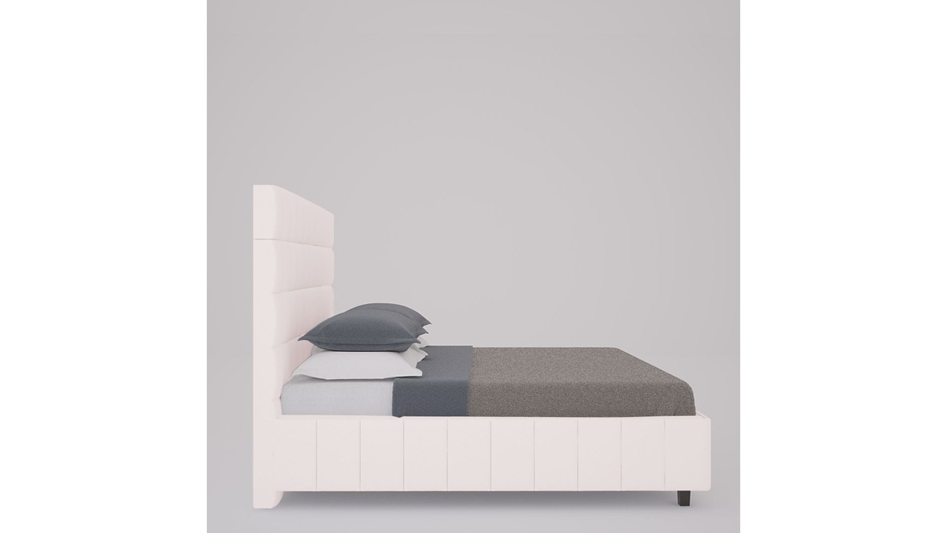 Кровать Shining Modern 200х200 Велюр Пыльная роза Р