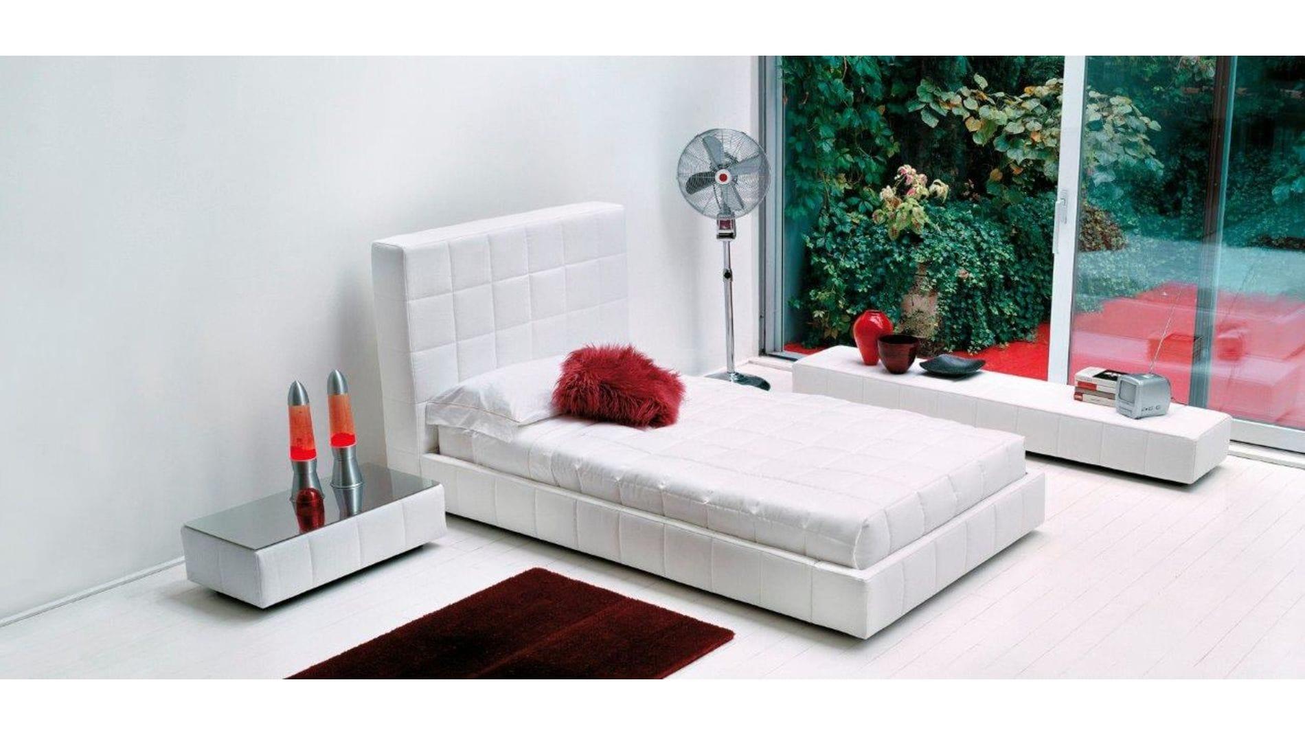 Кровать Squaring Alto 180х200 Белая Экокожа Р
