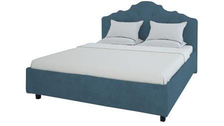 Кровать Palace 200х200 Микровелюр Морская волна