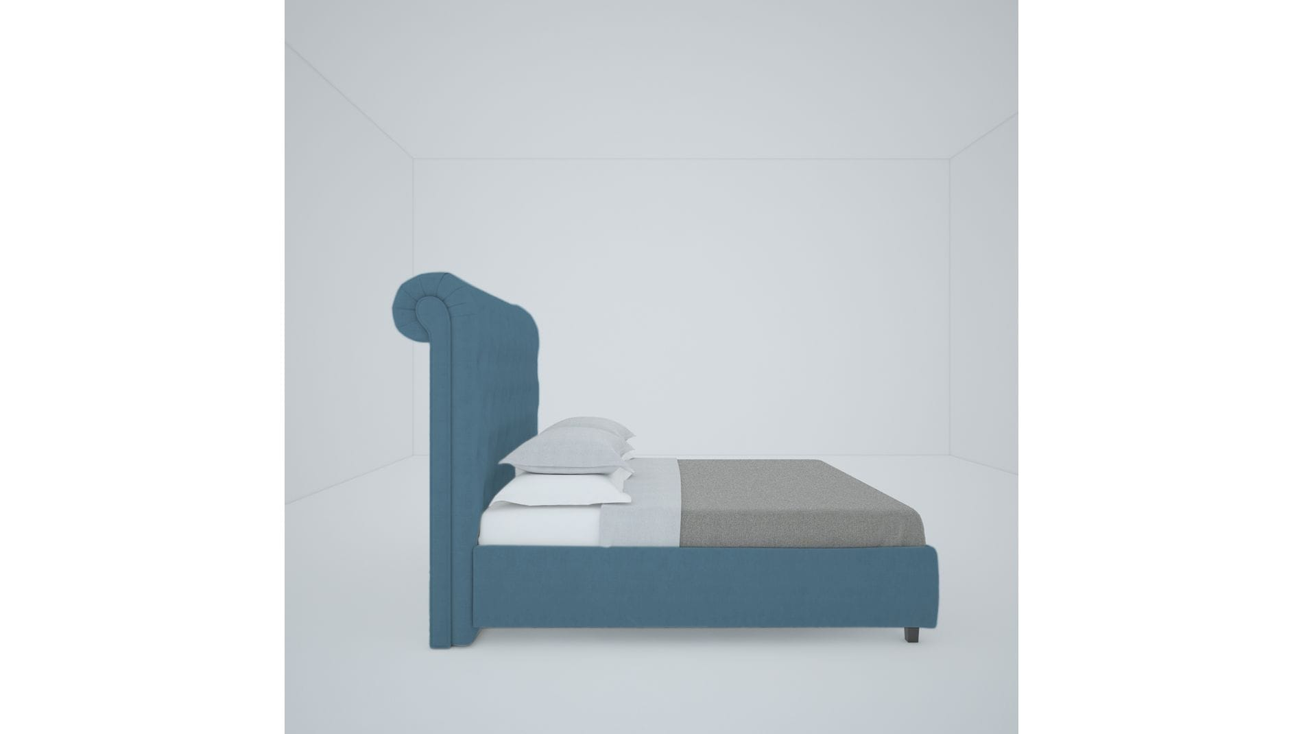 Кровать Sweet Dreams 200х200 Велюр Морская волна Р