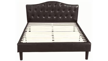 Кровать Kody 160х200 Темно-Коричневая Кожа Р
