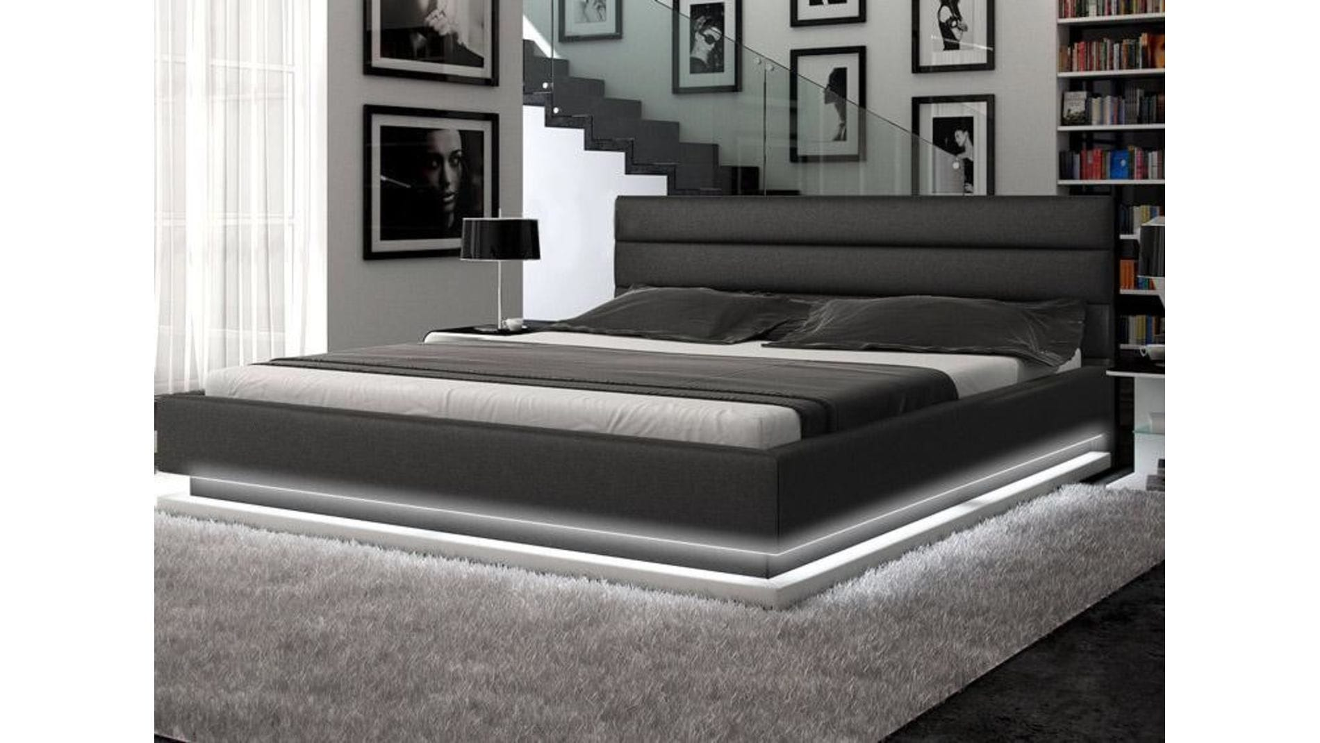 Кровать Brooklyn 160х200 Темно-Серый Велюр