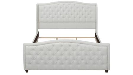Кровать Marcella 160х200 Белый Велюр