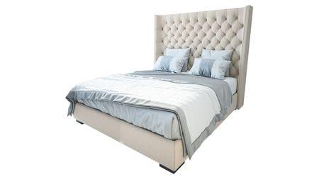 Кровать Jackie King 160х200 Велюр Бежевый Р