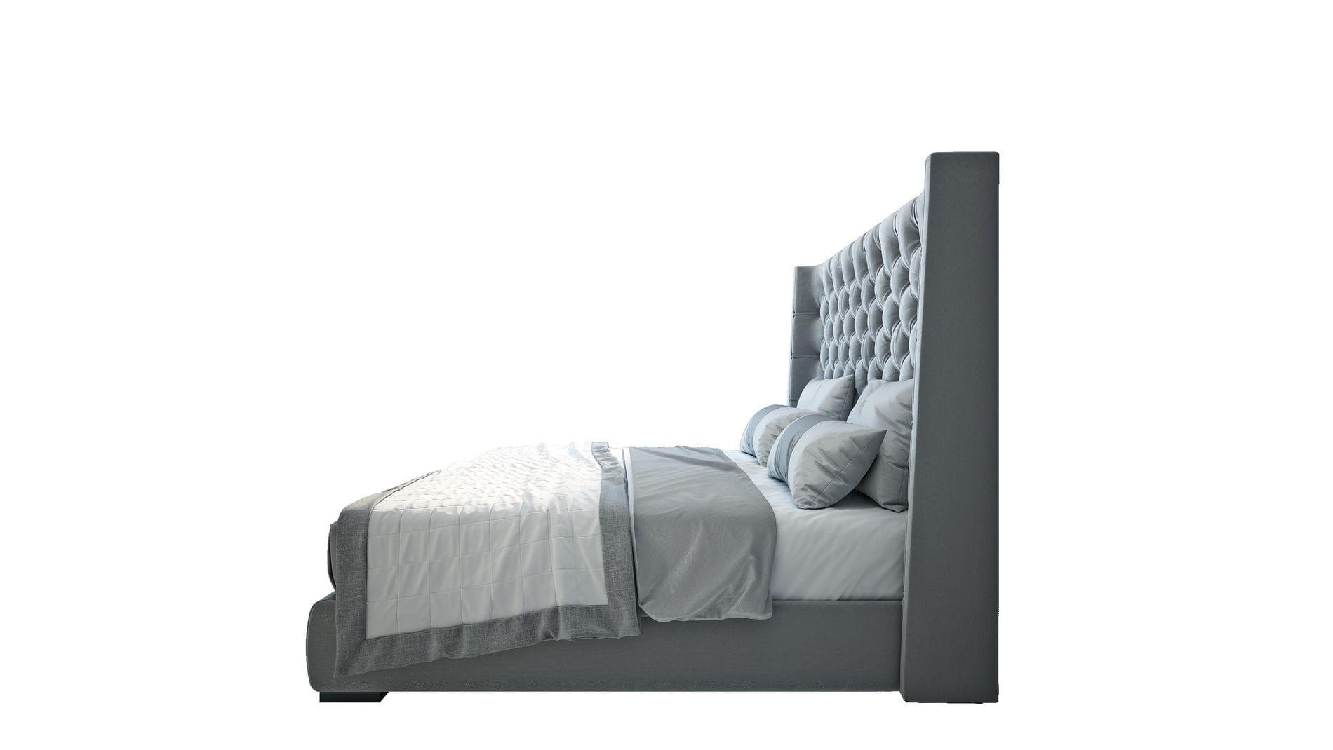 Кровать Jackie King  Велюр Серый
