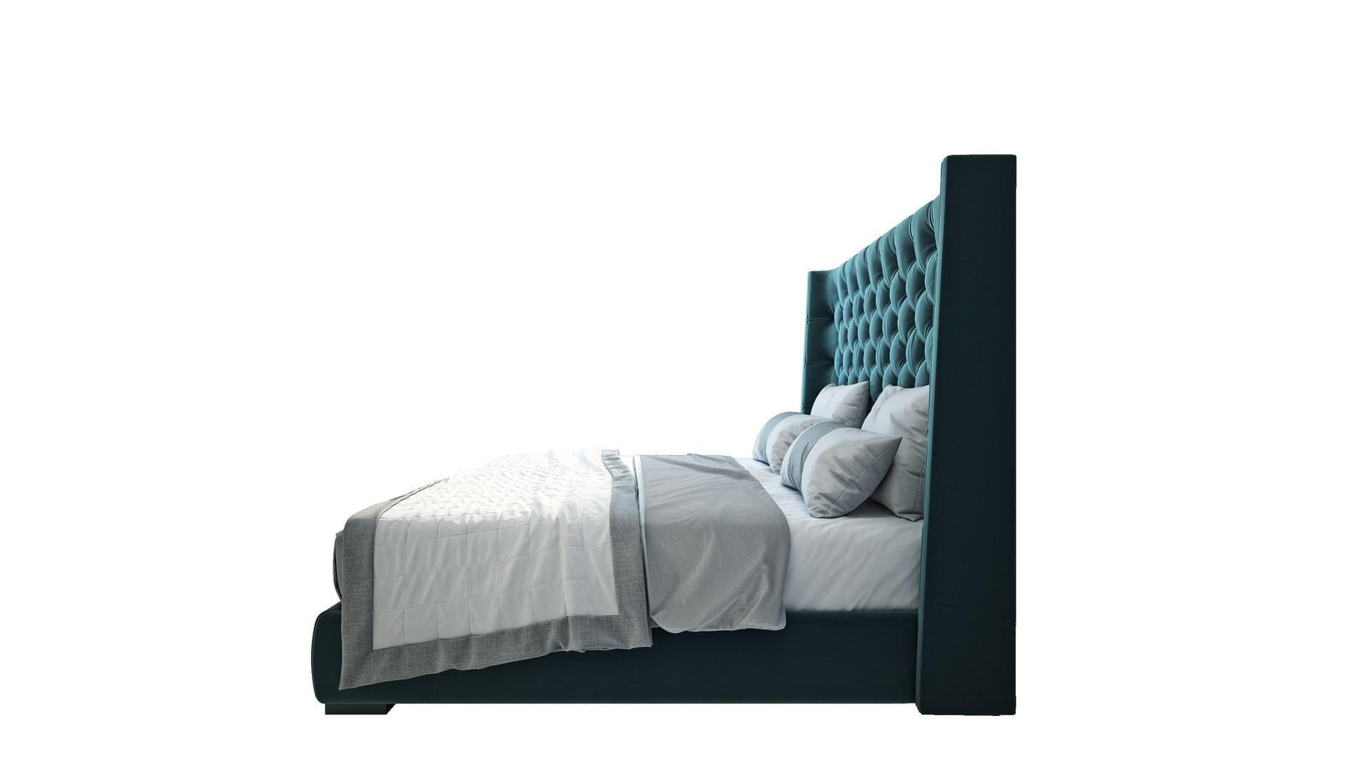 Кровать Jackie King 140х200 Велюр Бирюзовый Р