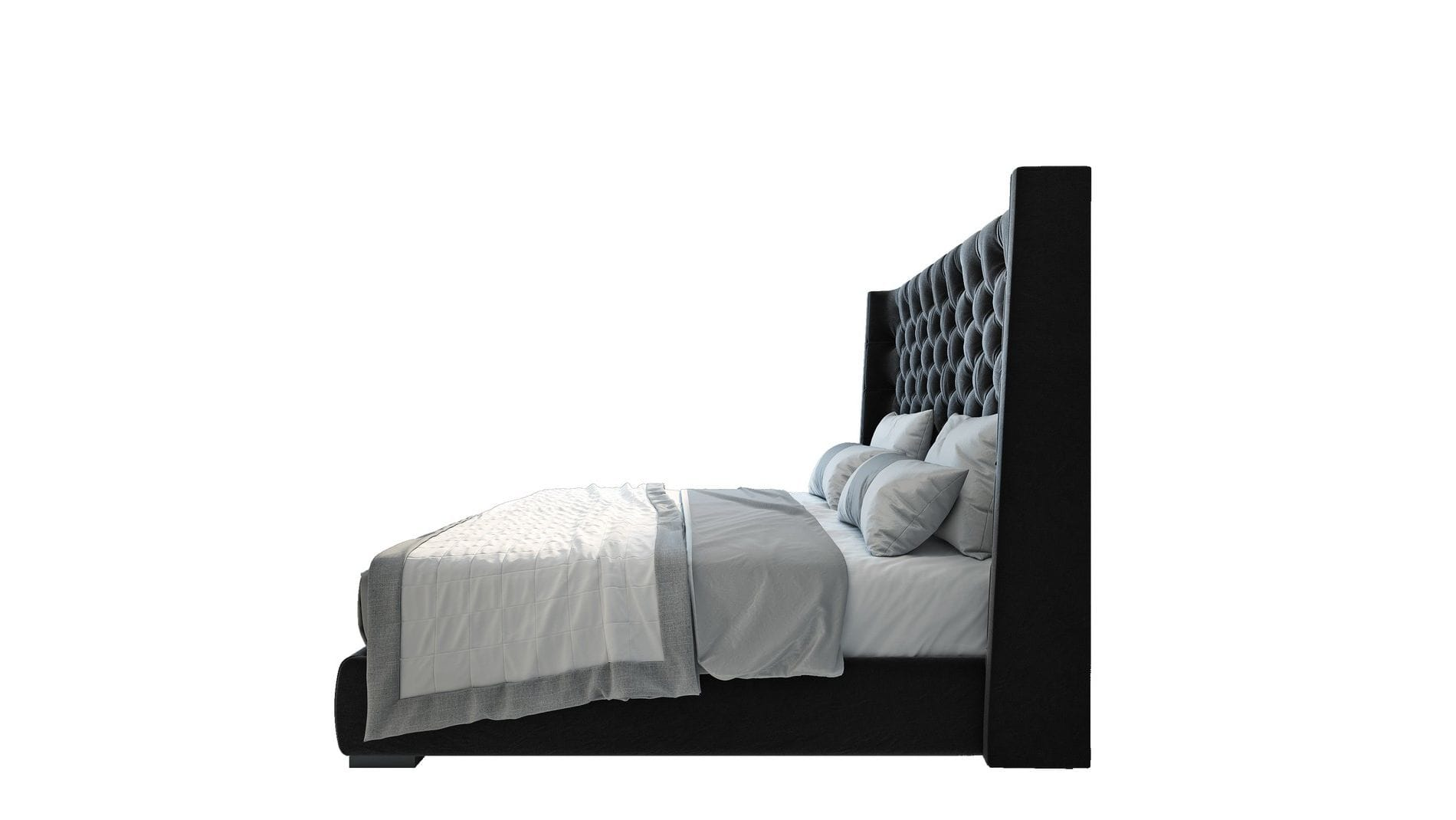 Кровать Jackie King 140х200 Велюр Черный Р