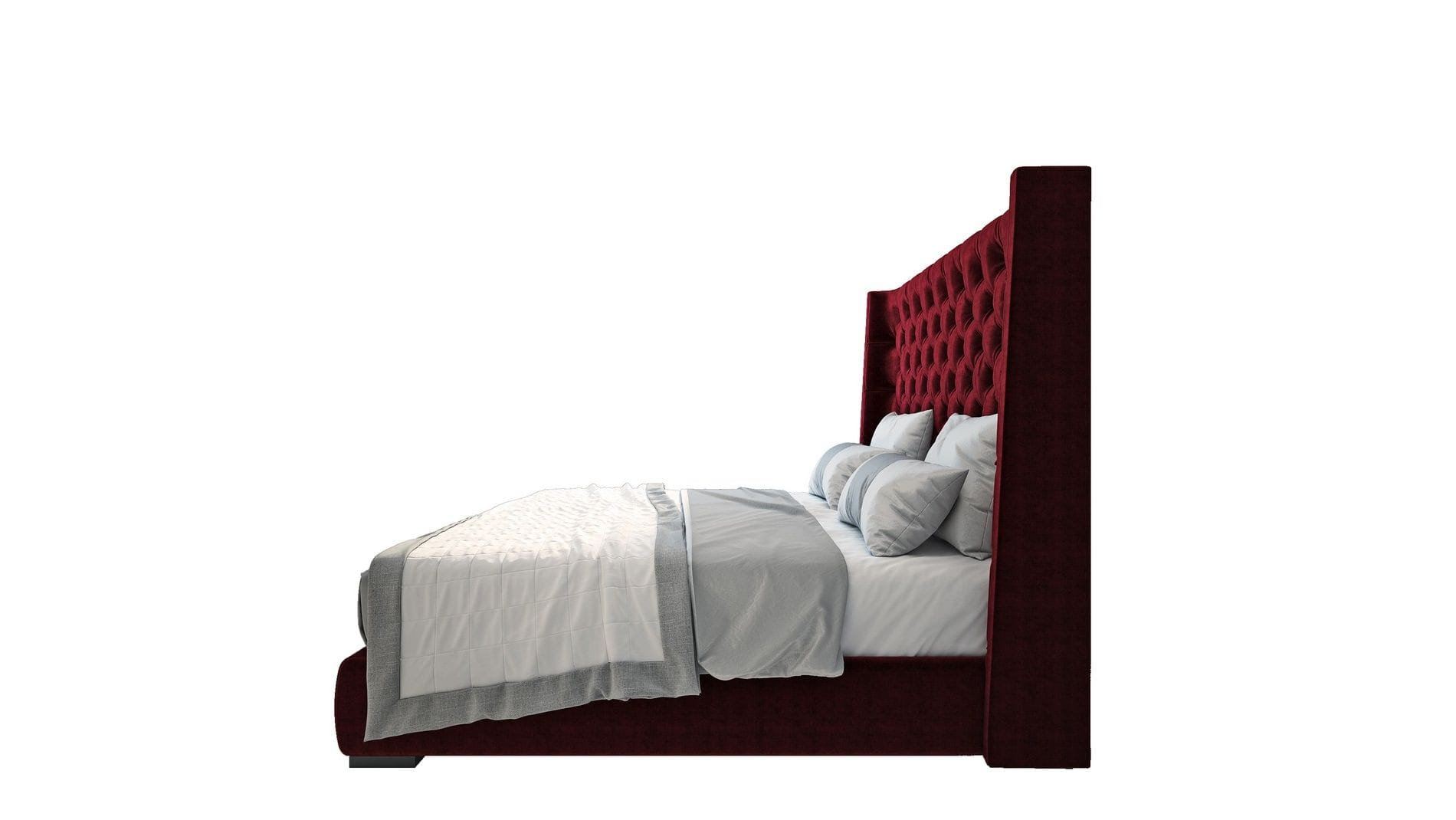 Кровать Jackie King 140х200 Велюр Красный Р