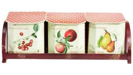 Набор емкостей для хранения на подставке Fruits